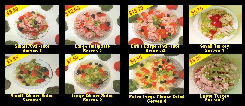 Luigi's Famous Antipasto Salads
